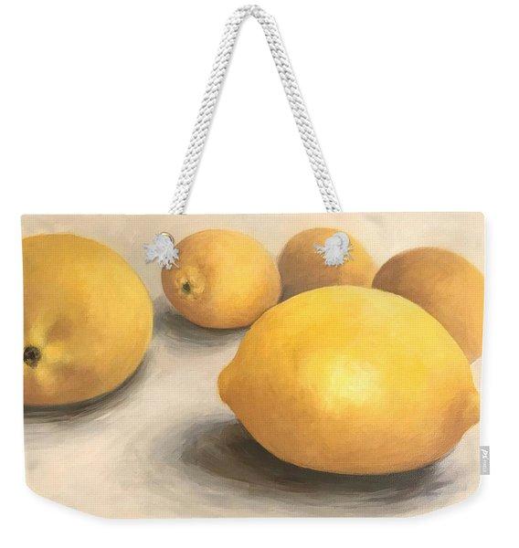 Five Lemons  Weekender Tote Bag