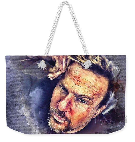 Flanery Watercolor Weekender Tote Bag