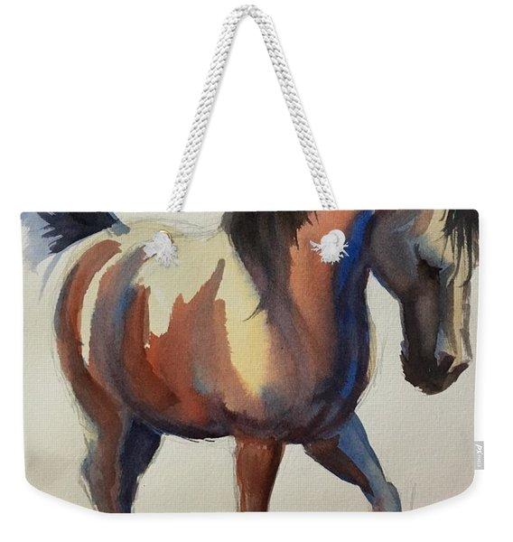 Flashing Bay Horse Weekender Tote Bag
