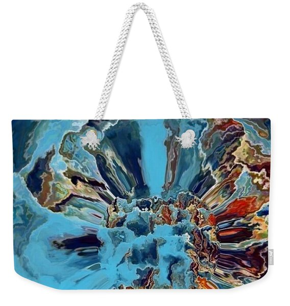 Weekender Tote Bag featuring the digital art Fleur Du Florence by A zakaria Mami