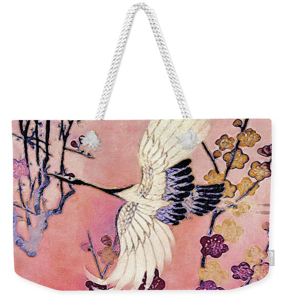Flight Of The Cranes - Kimono Series Weekender Tote Bag