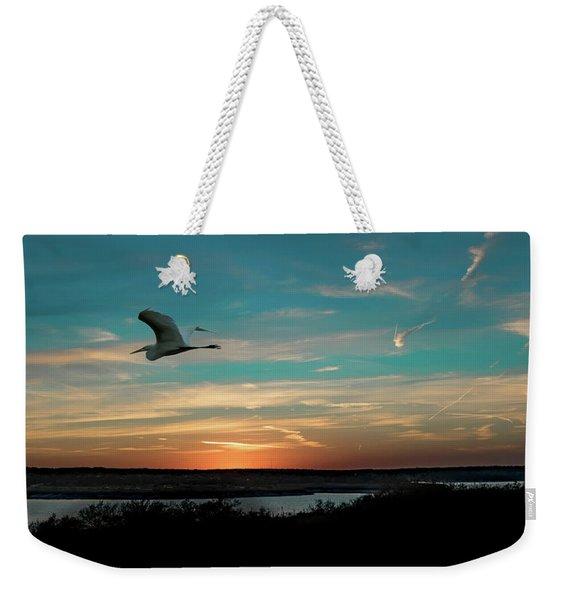 Flight To The Lake Weekender Tote Bag