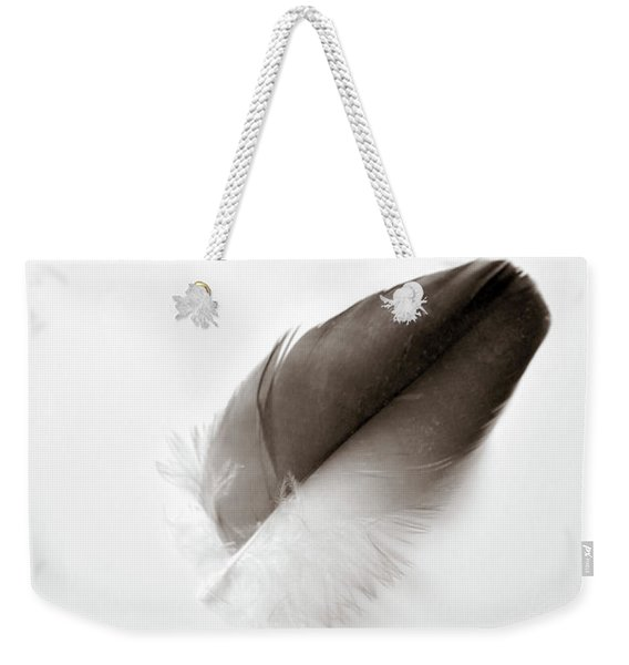 Weekender Tote Bag featuring the photograph Flightless by Michelle Wermuth