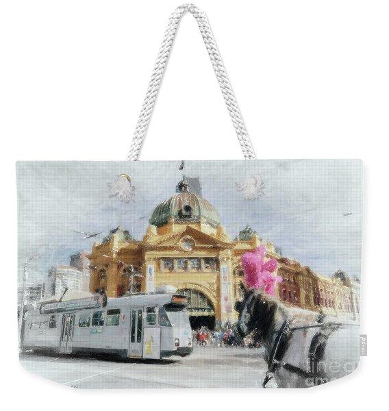 Flinders Street Station, Melbourne Weekender Tote Bag