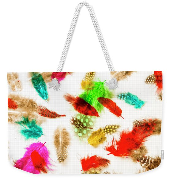 Floating In Colourful Abstract Weekender Tote Bag