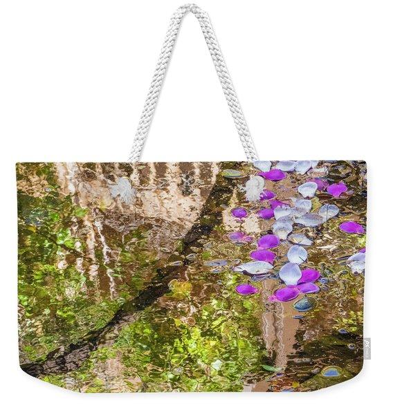 Floating Magnolia Petals Weekender Tote Bag
