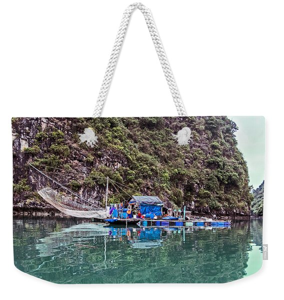 Floating Market - Halong Bay, Vietnam Weekender Tote Bag
