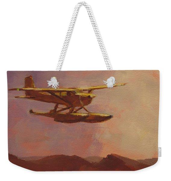 Floatplane Paradise Weekender Tote Bag