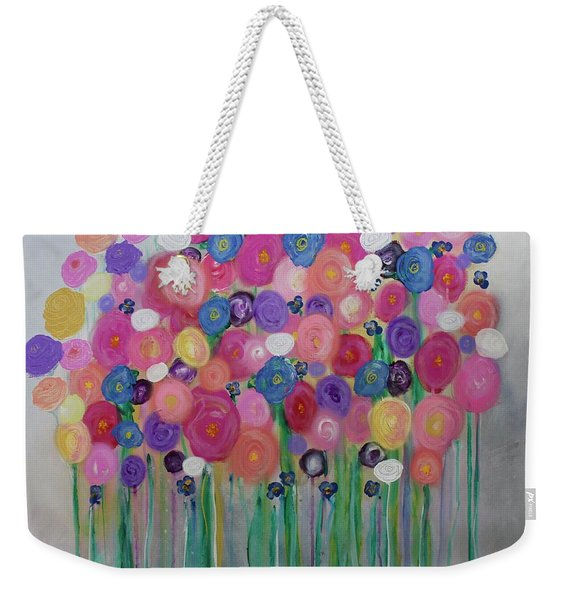Floral Balloon Bouquet Weekender Tote Bag