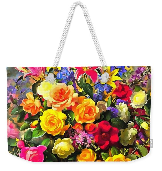 Floral Bouquet In Acrylic Weekender Tote Bag