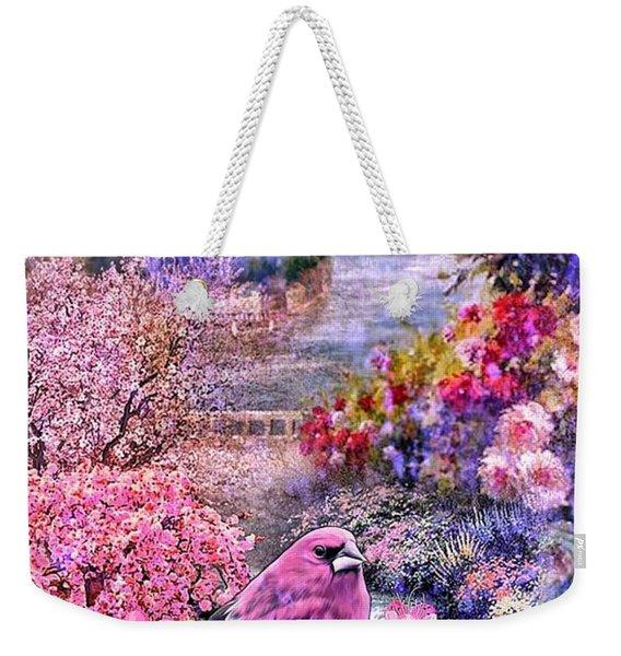 Floral Embedded Weekender Tote Bag