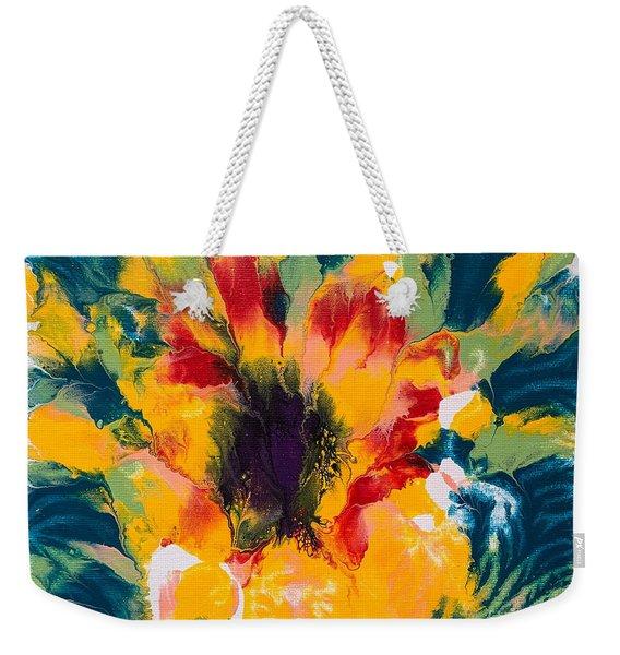 Floral Flourish 3 Weekender Tote Bag