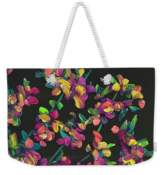 Floral Interpretation - Lantana Study Weekender Tote Bag