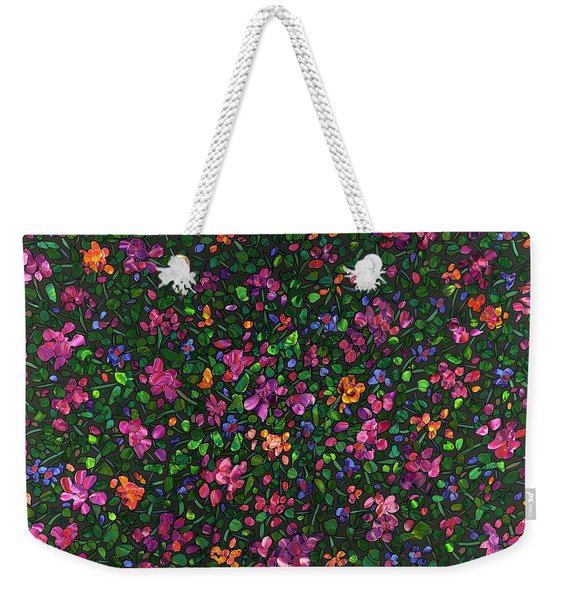 Floral Interpretation - Weedflowers Weekender Tote Bag