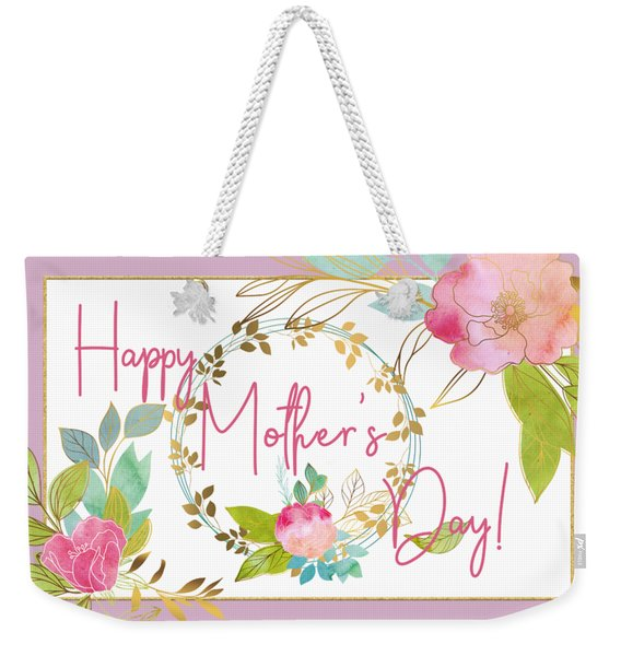 Floral Mother's Day Art Weekender Tote Bag
