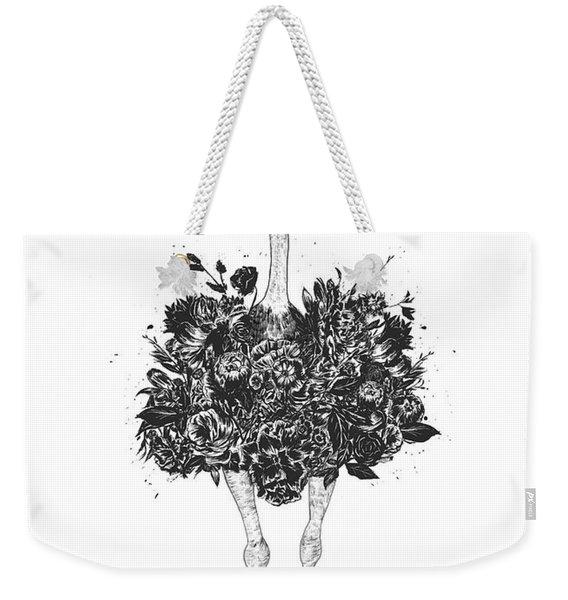 Floral Ostrich Weekender Tote Bag