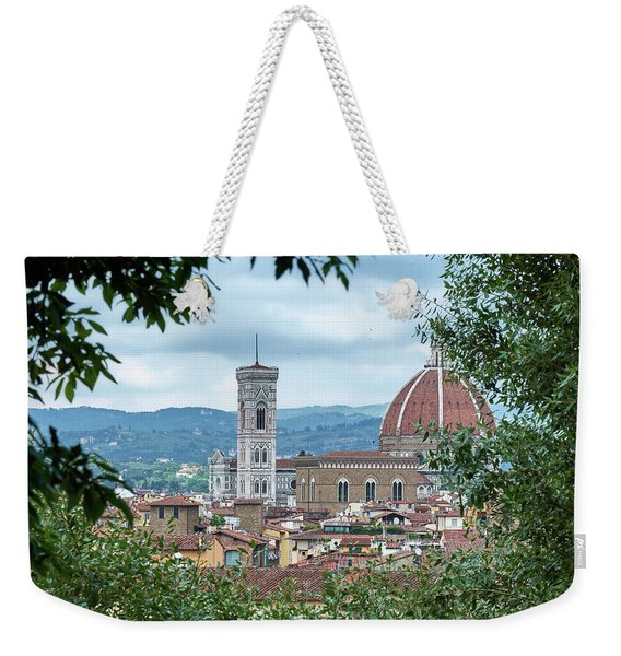 Florence And The Cathedral From The Boboli Gardens Weekender Tote Bag