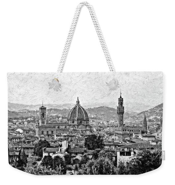 Florence Impasto Bw Weekender Tote Bag