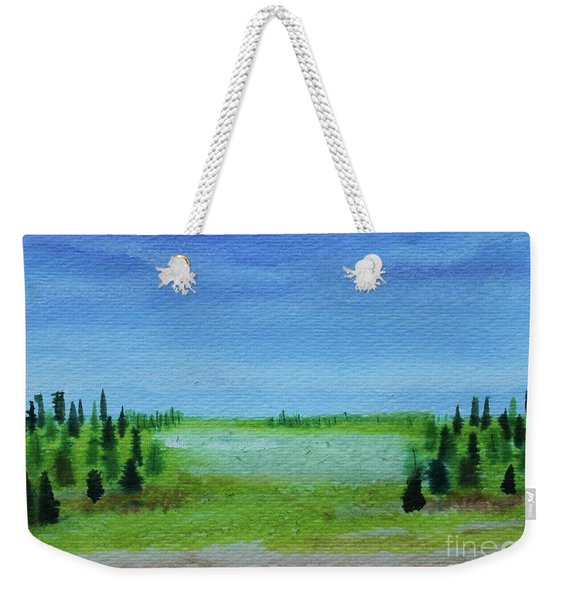Weekender Tote Bag featuring the painting Florid Forest by Kim Nelson