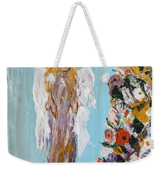 Flower Child Angel Weekender Tote Bag