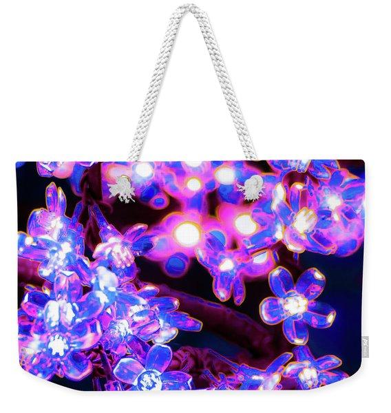Flower Lights 8 Weekender Tote Bag