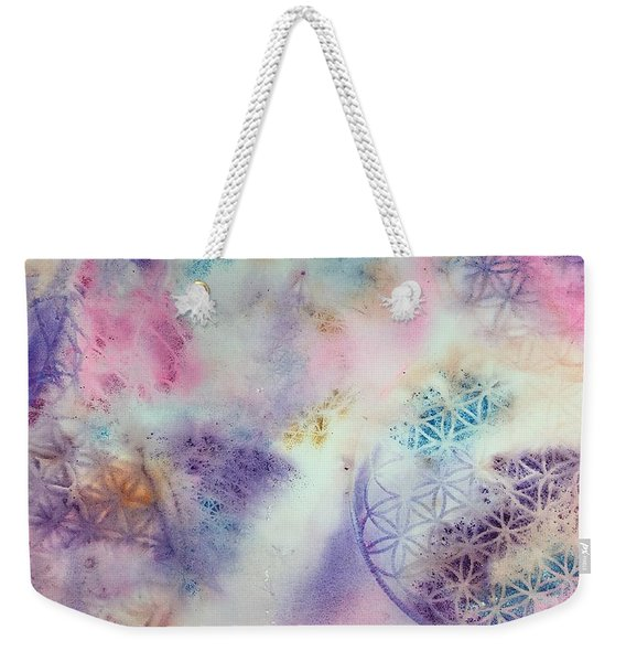 Flower Of Life Weekender Tote Bag