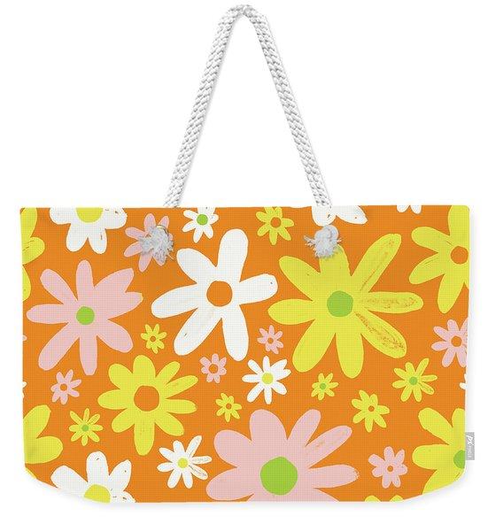 Flower Power Pattern Weekender Tote Bag