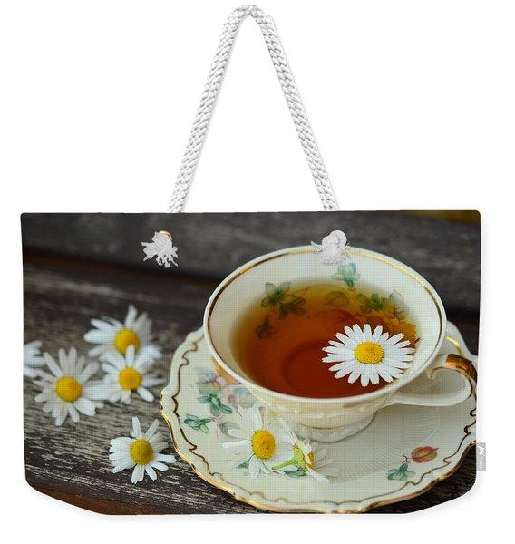Flower Tea Weekender Tote Bag
