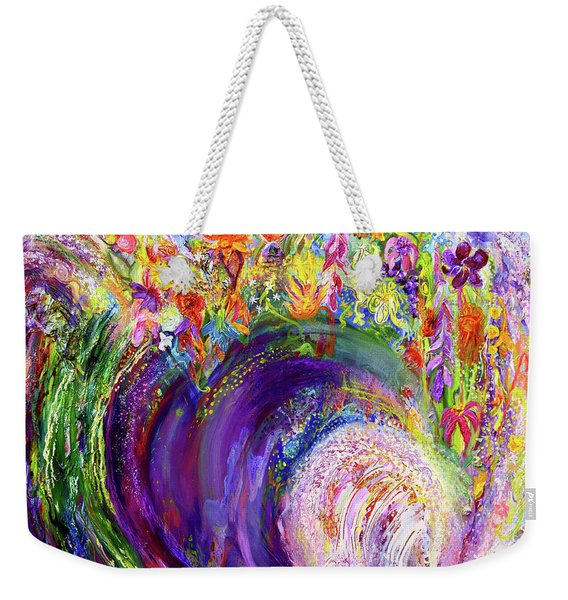 Flower Wave Weekender Tote Bag
