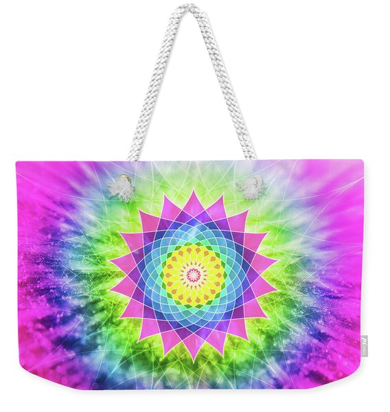 Flowering Mandala Weekender Tote Bag