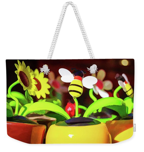 Flowers And Bees Weekender Tote Bag