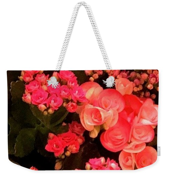 Weekender Tote Bag featuring the photograph Flowers At Wynn by Laurie Lundquist