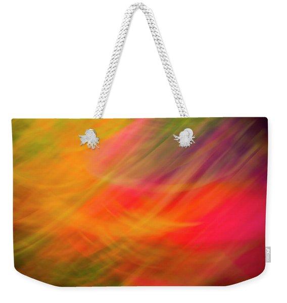 Flowers In Abstract Weekender Tote Bag