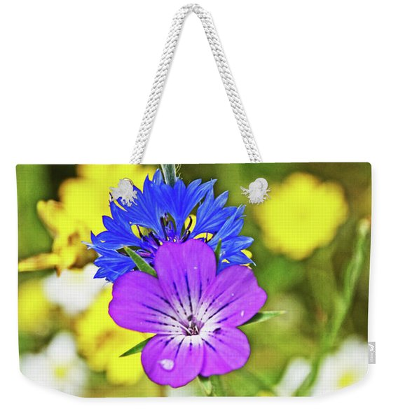 Flowers In The Meadow. Weekender Tote Bag