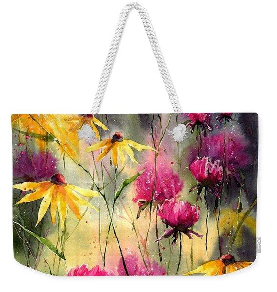 Flowers In The Rain Weekender Tote Bag