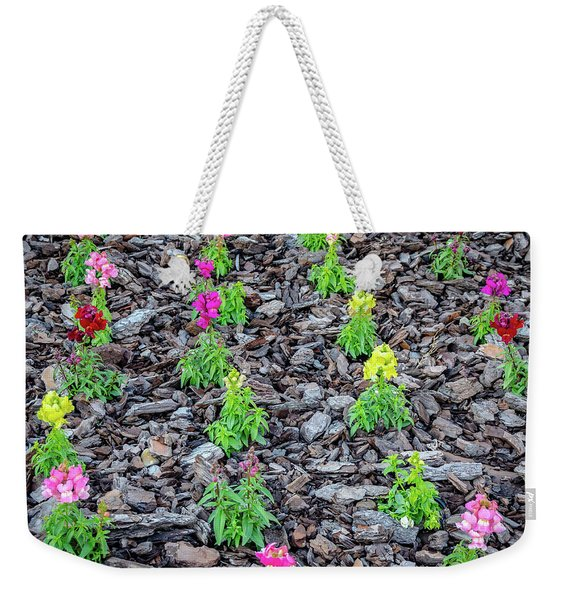 Flowers On The Stones Weekender Tote Bag