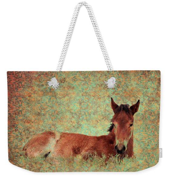 Flowery Foal Weekender Tote Bag