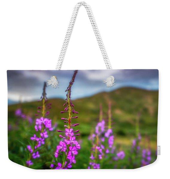 Flowery Sunset Weekender Tote Bag