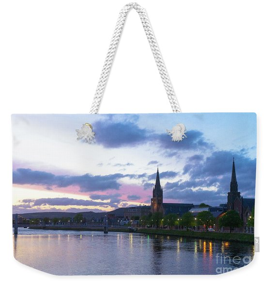 Flowing Down The River Ness Weekender Tote Bag