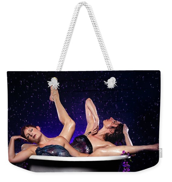 Achelois And Sister Bathing In The Galaxy Weekender Tote Bag
