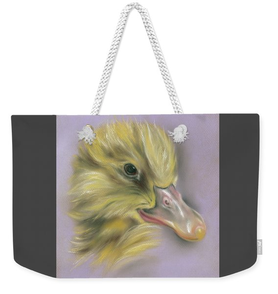 Fluffy Duckling Portrait Weekender Tote Bag
