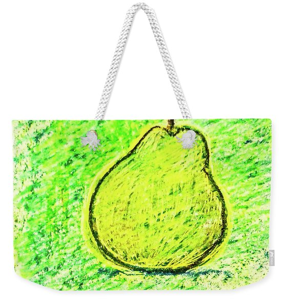 Fluorescent Pear Weekender Tote Bag