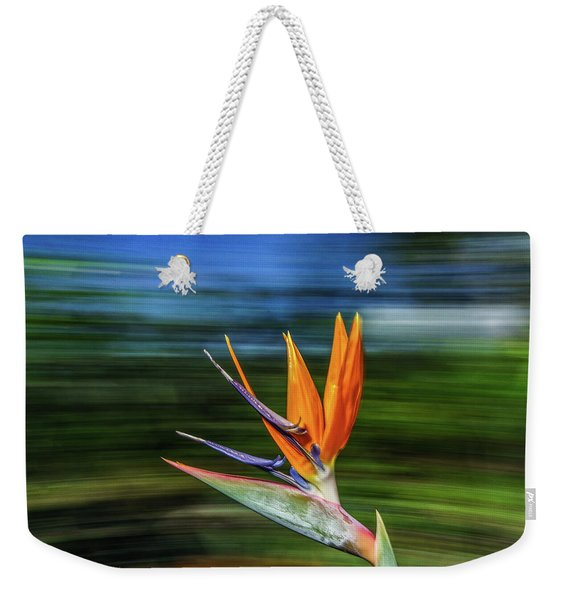 Flying Bird Of Paradise Weekender Tote Bag