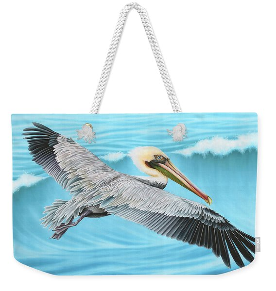 Flying Pelican Weekender Tote Bag