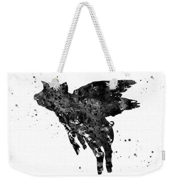 Flying Pig Weekender Tote Bag