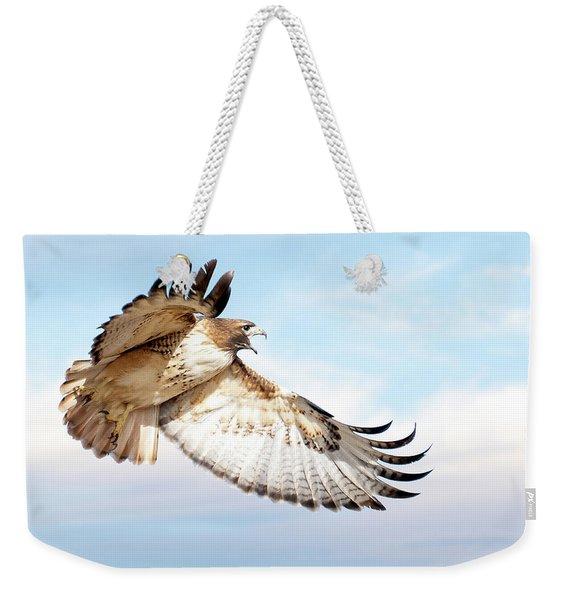 Flying Red-tailed Hawk Weekender Tote Bag