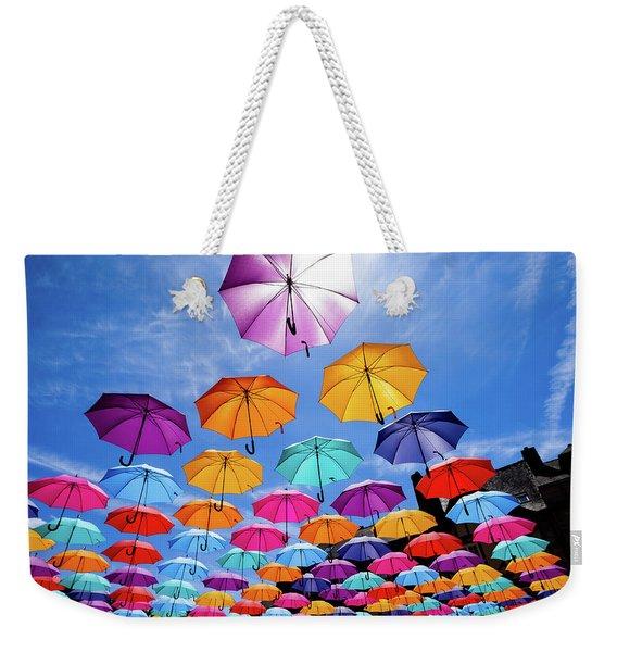 Flying Umbrellas II Weekender Tote Bag