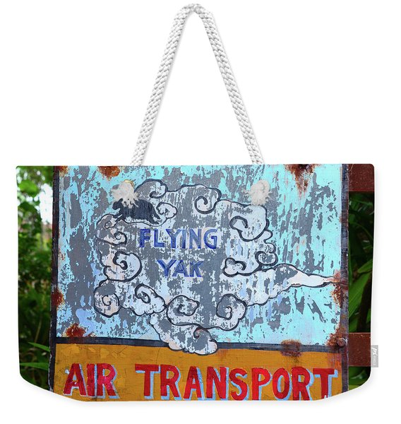 Flying Yak Air Transport Weekender Tote Bag