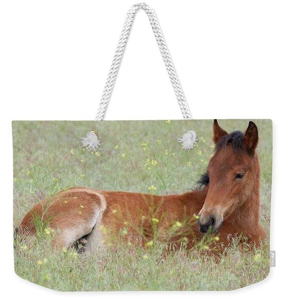 Foal In The Flowers Weekender Tote Bag