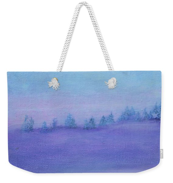 Weekender Tote Bag featuring the painting Fog Descending by Kim Nelson